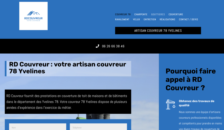 Couvreur 78 dans les Yvelines : RD Couvreur